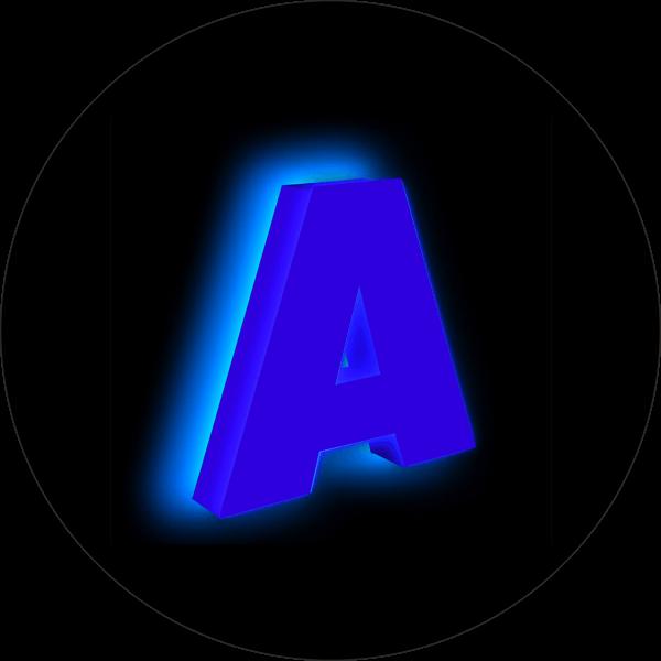 буквы контражур